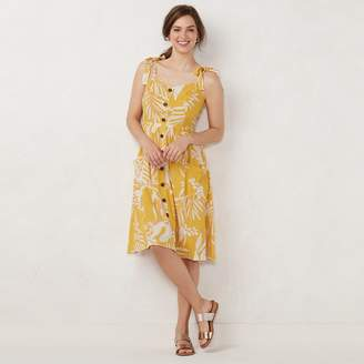 10693596f3 Lauren Conrad Women s Button Front Dress
