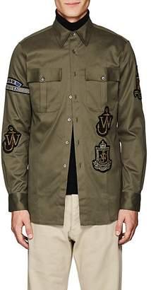 J.W.Anderson Men's Appliquéd Cotton Shirt Jacket