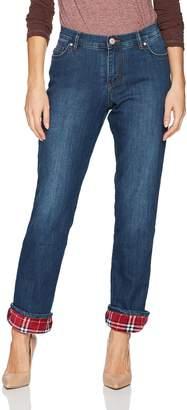 Lee Women's Fleece Lined Relaxed Straight Leg Jean