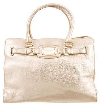 MICHAEL Michael Kors Metallic Leather Satchel