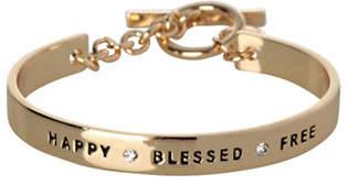 BCBGeneration 12K Goldplated Happy Blessed Free Bracelet