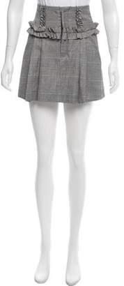 Marissa Webb Houndstooth Wool Skirt w/ Tags