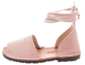 Tocoto Vintage Girls' Suede Lace-Up Sandals w/ Tags
