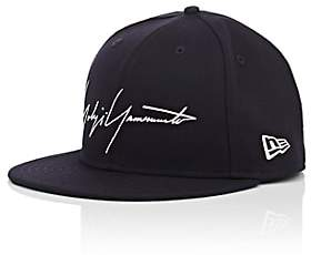 Yohji Yamamoto MEN'S WOOL BASEBALL CAP-NAVY