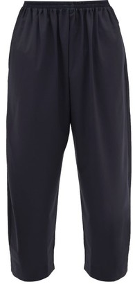 eskandar Wide Leg Wool Blend Trousers - Womens - Navy