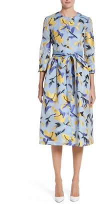 Carolina Herrera Iris Jacquard Organza Shirtdress