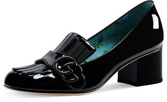 Gucci Marmont Patent Loafer Pump $750 thestylecure.com