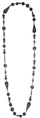 Bottega Veneta Oxidized Chain Necklace