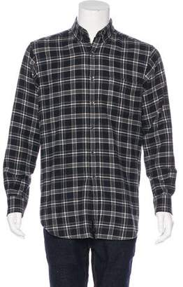 Ralph Lauren Purple Label Plaid Flannel Shirt