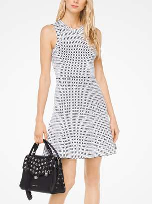 MICHAEL Michael Kors Geometric Embossed Stretch-Viscose Dress