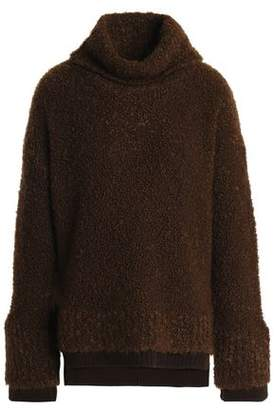 Agnona Rib-Trimmed Wool-Blend Bouclé Sweater