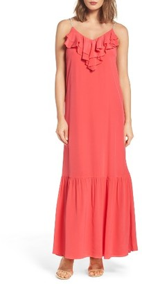 Women's Eci Ruffle Silk Maxi Dress $98 thestylecure.com