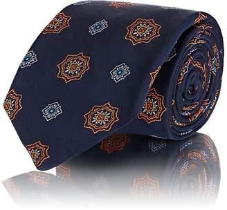 Fairfax Men's Medallion-Pattern Silk Twill Necktie