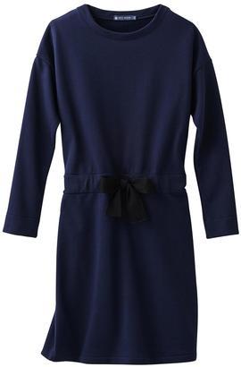 petit bateau Long-Sleeve Jersey Dress $124 thestylecure.com
