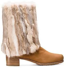 Stuart Weitzman Women's Blizzard Suede & Mink Mid-Calf Boots