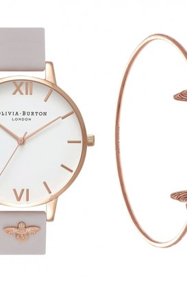 60f0dc12d Olivia Burton Ladies Bee Mine Bangle Gift Set Watch OB16GSET04
