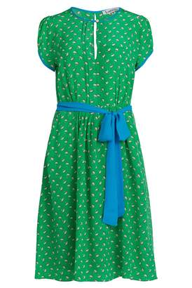 Libelula Tilreb Dress Grass Green Palm Tree Print