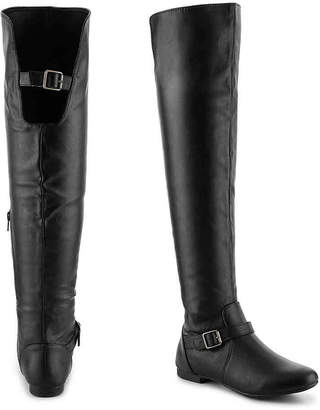 ac0564f37a3 Journee Collection Black Over The Knee Women s Boots - ShopStyle