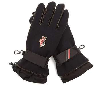 Moncler Logo-embroidered padded twill gloves