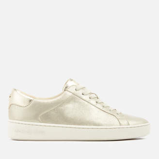1a33a7b4c8adeb MICHAEL Michael Kors Women s Irving Brushed Metallic Lace Up Trainers