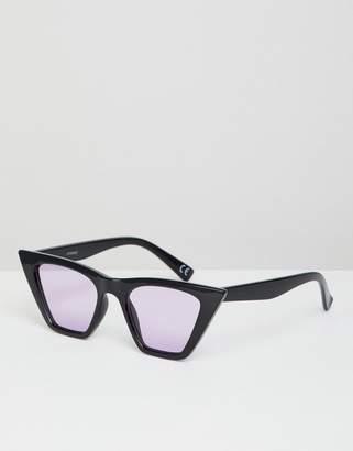 d4fc2ba9201 Cat Eye Asos Design ASOS DESIGN sunglasses in black with lilac lens