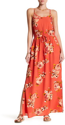 Bobeau Drawstring Waist Floral Print Maxi Dress $72 thestylecure.com
