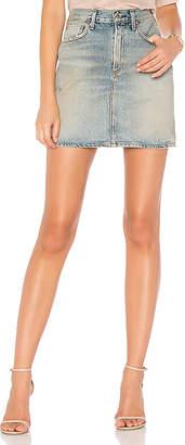 A Gold E AGOLDE Kat Skirt.