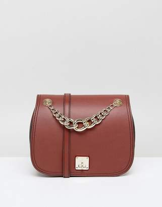 Fiorelli Saddle Bag in Deep Tan With Chain Detail
