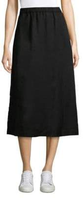 Eileen Fisher Side Snap Midi Skirt