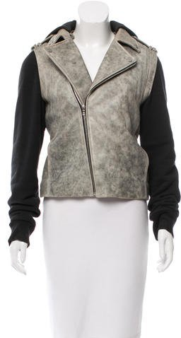 Alexander Wang Alexander Wang Leather-Accented Moto Jacket