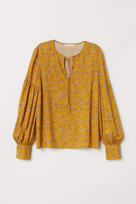 H&M Patterned Blouse - Yellow