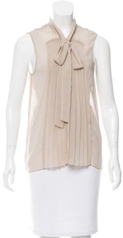 Marc Jacobs Marc Jacobs Sleeveless Pleated Top