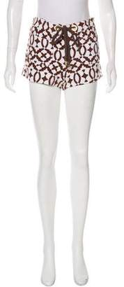Tory Burch Patterned Mid-Rise Mini-Shorts