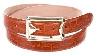 Max Mara Embossed Leather Waist Belt