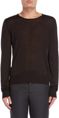 Maison Margiela Dark Brown Textured Knit Pullover