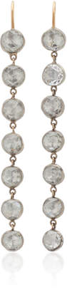 Renee Lewis 18K White-Gold Diamond Earrings