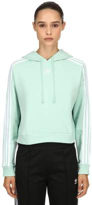 adidas Cropped Cotton Sweatshirt Hoodie