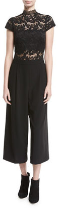 Alice + Olivia Elysia Lace Pleated Gaucho Jumpsuit $440 thestylecure.com