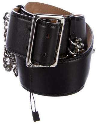 Burberry Leather Chain-Link Belt