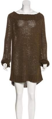 Donna Karan Open Knit Sweater Dress