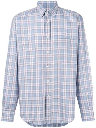 Brioni plaid print shirt