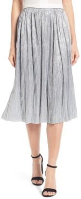 Women's Vince Camuto Pleat Foiled Knit Skirt $79 thestylecure.com