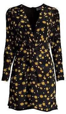 DELFI Collective Women's Frankie Sun Print Long Sleeve Mini Dress