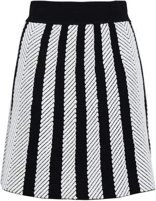 Maje Jasper Striped Jacquard-knit Mini Skirt