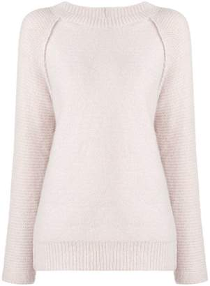 Eleventy panel knitted jumper