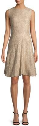 Oscar de la Renta Women's Tweed A-Line Dress