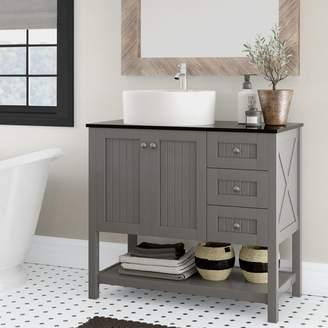 "Beachcrest Home Nadel 36"" Single Bathroom Vanity Set Base"