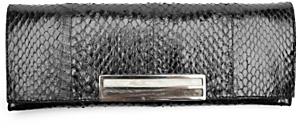 Pantera Cobra Skin Cigarette Clutch: Black
