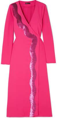 Stine Goya Sequin-embellished Jersey Wrap Dress - Pink