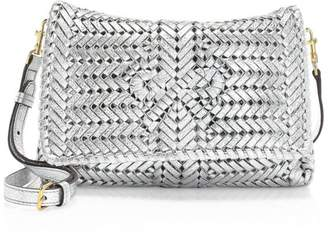 Anya Hindmarch Neeson Metallic Woven Leather Crossbody Bag